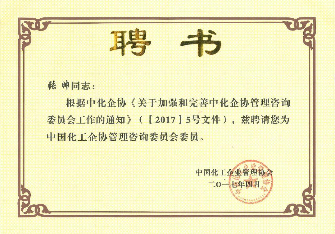 中国化工企协管咨询委员会委员